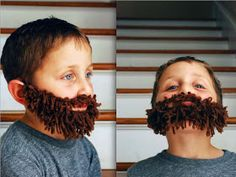 Q-made: DIY Yarn Beard!  I can see Jer and Nick doing this craft with Max/