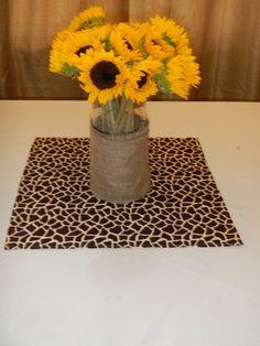 Giraffe Print Table Square, Baby Shower, Bridal Shower, Party, Wedding decor on Etsy, $5.50