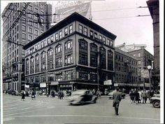 The corner of Weybosset and Dorrance in Providence circa 1945 via the Providence Journal