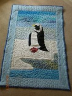 """A birthday present I have just finished this wall hanging quilt for my """"penguin mad"""" friend Terry's 50 th birthday and I thought you might like to see it. 50th Birthday Presents, 40th Birthday Quotes, Wife Birthday, Happy Birthday Images, Happy Birthday Greetings, Birthday Cakes, Quilted Wall Hangings, Show And Tell, Gag Gifts"""