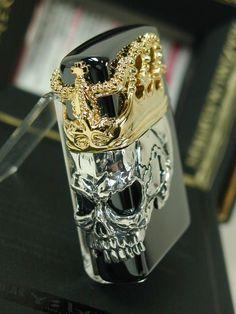 *crashes thru door holding this high* I Need this! I need this! I neeeed this!!! -just sayin. #zippo #skulls
