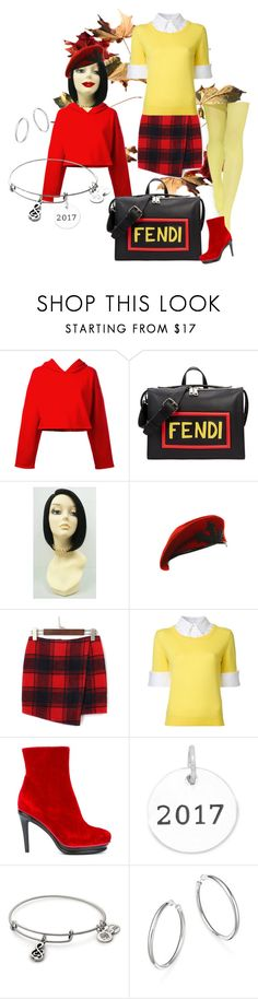 """""""Summer To Fall..2017"""" by marlenajo-b ❤ liked on Polyvore featuring Golden Goose, Fendi, Fortuna, Mary Katrantzou, A.F. Vandevorst, Bloomingdale's and colorqueens"""