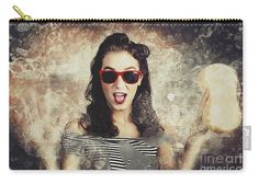 Rockabilly Carry-all Pouch featuring the photograph Pinup Car Wash Girl by Jorgo Photography - Wall Art Gallery