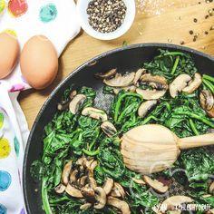 Spinatpfanne Mit Ei Essen Ohne Kohlenhydrate Rezept Rezepte Essen Ohne Kohlenhydrate Einfache Gerichte