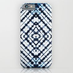 Diamonds Indigo iPhone & iPod Case by Vikki Salmela on Society6, #new #indigo #tie #dye #diamond #geometric #Shabori #art on #iPhone #iPod #phone #cases for #fashion #trendy #tech #accessories for #home #office #school #gift