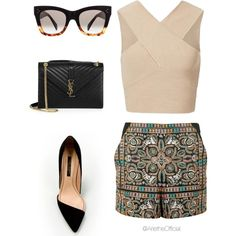 Untitled #22 by arietheofficial on Polyvore featuring Topshop, Yves Saint Laurent and CÉLINE