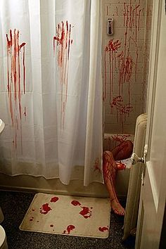 'ThinkGeek :: Horror Movie Shower Curtain & Bath Mat' #bloody #bathroom #forthehome