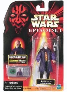"Star Wars Episode I Sio Bibble 3.75"" Action Figure with CommTech Chip by Hasbro. $10.98. Figure includes weapon accessories!. Star Wars Episode I Sio Bibble 3.75 Action Figure with CommTech Chip"