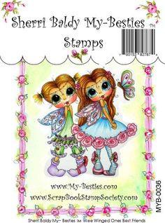 Mis Besties claro sello ojo grande Besties cabeza grande muñecas Wee OnesBest alado amigos MYB-0036 por Sherri Baldy