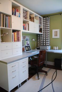 Ikea Expedit Home Office ikea linnmon adils corner desk setup ideas for home office