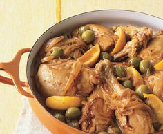 This dish is SO good! It's a Moroccan chicken dish.