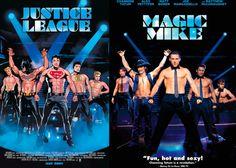 Os heróis da Liga da Justiça em versão 'Magic Mike' (Foto: Divulgação)