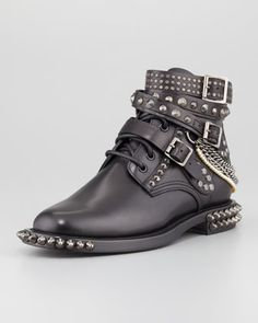 Chain-Detail Ankle Boot by Saint Laurent at Neiman Marcus. $2395