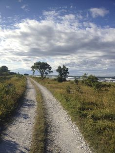 🇸🇪 Country road by the sea (Ekeviken, Isle of Fårö, Gotland, Sweden) [photographer unknown] cr. Sweden Europe, Sweden Travel, Beautiful Islands, Beautiful Places, Country Life, Country Roads, Scenery Pictures, Heaven On Earth, Norway