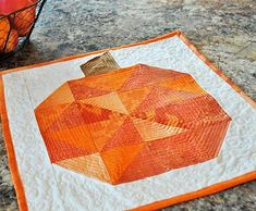 This cute little Pumpkin Patch Block is the perfect fall quilt pattern for beginners. Scrap Quilt Patterns, Beginner Quilt Patterns, Block Patterns, Quilting Ideas, Half Square Triangle Quilts, Square Quilt, Fall Sewing Projects, Modern Quilt Blocks, Barn Quilt Designs