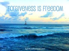 Yes, you can forgive for good.