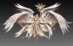 Female Character Design, Character Drawing, Seraph Angel, League Of Angels, Angel Artwork, Angel Drawing, Angel Warrior, Ange Demon, Fantasy Comics