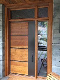 Unique 50 Modern And Classic Wooden Main Door Design Ideas To see more Visit ? Modern Entrance Door, Main Entrance Door Design, Wooden Front Door Design, Modern Door, Entry Doors, Wood Front Doors, Exterior Doors, Garage Doors, Flush Door Design