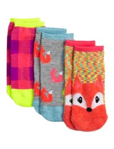 Fox Feather Knit Ankle Socks M/L | Justice