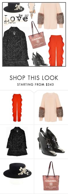 """""""Parigi"""" by ceci4diplomazy ❤ liked on Polyvore featuring Sally Lapointe, Chanel, Louis Vuitton and paris"""