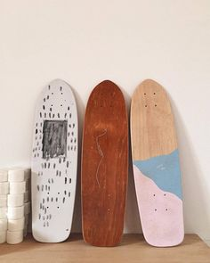 All one-off boards in the shop (at Dust Temple) Skateboard Deck Art, Penny Skateboard, Skateboard Design, Longboard Design, Cool Skateboards, Skate Decks, Skate Surf, Ultimate Frisbee, Burton Snowboards