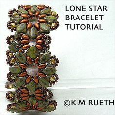 NEW Beading Tutorial for Lone Star Blossom Bracelet with Silky