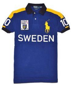 Polo Ralph Lauren Men Custom Fit Big Pony T-Shirt - SWEDEN Polo Masculina, 8850e032d4be
