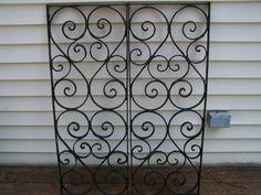 antique ornate iron  panelsheart iron by TheLittleMuseumCo on Etsy, $300.00