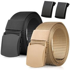 Plastic Buckle: Top quality plastic belt buckle made of high strength polyacetal, does not contain any metal components, fast pass through the airport security, no need to take off. Suitable for travel.  Awesome casual accessory for indoor and outdoor activities, such as hiking, hunting, shooting, sports, and all casual occasions etc.  It's suitable for almost all ages male daily wear and nice popular gift for students, youth, men, old man as father's day gift, thanksgiving gift, Christmas…