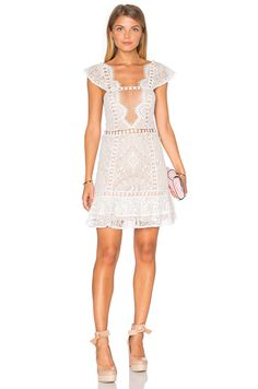 For Love & Lemons Emerie Dress in White