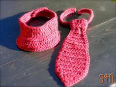 free crochet neck tie and visor pattern for boys