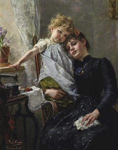 Paul Hermann Wagner (1852-1937), The little seamstress, private collection, oil on canvas, cm 110.5x84