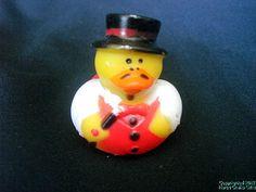 "Rubber Duck MAGICIAN Magic Wand Top Hat Mustache Duckie NEW 2"" Ducky Free Ship~"