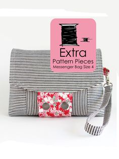 Image of Extra Pattern Pieces - Messenger Bag Pattern - Size 4