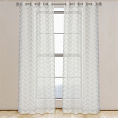Shop LJ Home Fashions Artemis Geometric Semi Sheer Linen Look Grommet Curtains At Lowes Canada Find Our Selection Of Drapes The Lowest Price