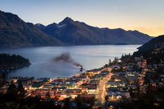 Queenstown, New Zealand - Queenstown is built around the beautiful Lake Wakatipu, which has spectacular views of surrounding mountains including Walter Peak and The Remarkables. European explorers William Gilbert Rees and Nicholas von Tunzelmann were the first to inhabit the wild habitat that they found in 1860 and after the discovery of gold, the town boomed.