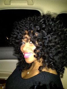 Beautiful bantu knot out!