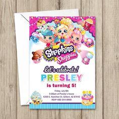 SHOPKINS BIRTHDAY Invitation Shopkins Party Invitation by kimberlyjdesign on Etsy