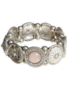 Grace Lux Stretch Bracelet | Pink | Accessorize