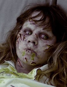Linda Blair as Regan Teresa McNeil in The Exorcist, 1973 horror film directed by William Friedkin.