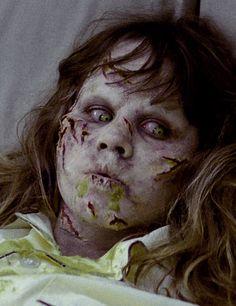 Linda Blair as Regan Teresa McNeil in The Exorcist, 1973 horror film directed by William Friedkin.