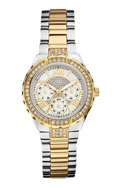 Modell W0111L5, eine sportliche Multifunktions-Uhr. Eine beliebte Uhr von Guess, die wir gerne für Sie gravieren.