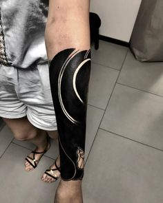 black work tattoo Arm Tattoos Forearm, Sun Tattoos, Arm Tattoos For Guys, Black Art Tattoo, Black And Grey Tattoos, Tattoo Set, Cover Up Tattoos, Nature Tattoo Sleeve, Sleeve Tattoos