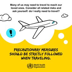 Precautionary measures should be strictly followed when traveling. #COVID19 Disney Jokes, Funny Disney, Fly Safe, Ending Quotes, International Health, Best Airlines, Medical Coding, Wedding Activities, World Health Organization