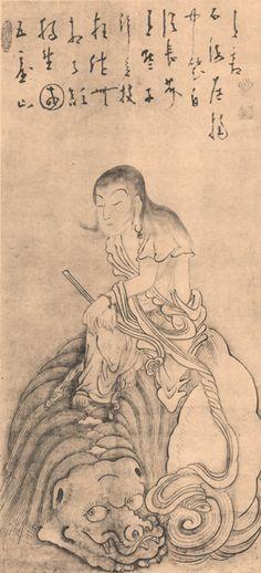 白隠(HAKUIN) photo 文殊菩薩 Zen Painting, Korean Art, Nihon, Haiku, Chinese Art, Japanese, Life, Buddhism, Mandalas