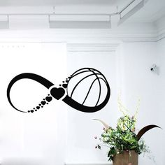 Wall Decals Infinity Symbol Love Basketball Sport Sign Hearts Gym Home Vinyl Decal Sticker Kids Nursery Baby Room Decor ☆ º ♥ `•.¸.•´ ♥ º ☆ Dear