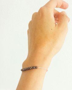 Bracelet cordon rose et perles bronze >>>  www.elodietrucparis.tictail.com