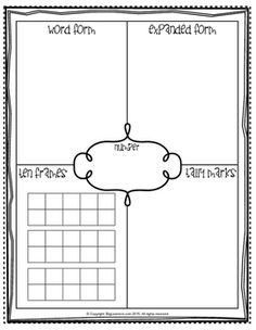 Develop a strong number sense with these printables! Simply write a number or roll a dice, then write many different ways to show that number.  This set of contains three printables that can be used for the numbers 1-10, 11-20, and 21-30.Appropriate for grades K-1 students.- Print this chart on a heavy duty paper.- Laminate it for durability.- Use dry erase markers.- Can be used over and over again.Please like us on Facebook for freebies and updates.www.facebook.com/BiglearnersllcPlease…
