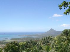 La Tourelle and part of the west of Mauritius, seen from Le Chamarel restaurant.