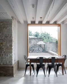 The Parchment Works house extension built inside ruined factory walls White Washed Oak, Materials And Structures, Wall Design, House Design, Cabinet D Architecture, House Architecture, Contemporary Architecture, Masonry Wall, Ground Floor Plan